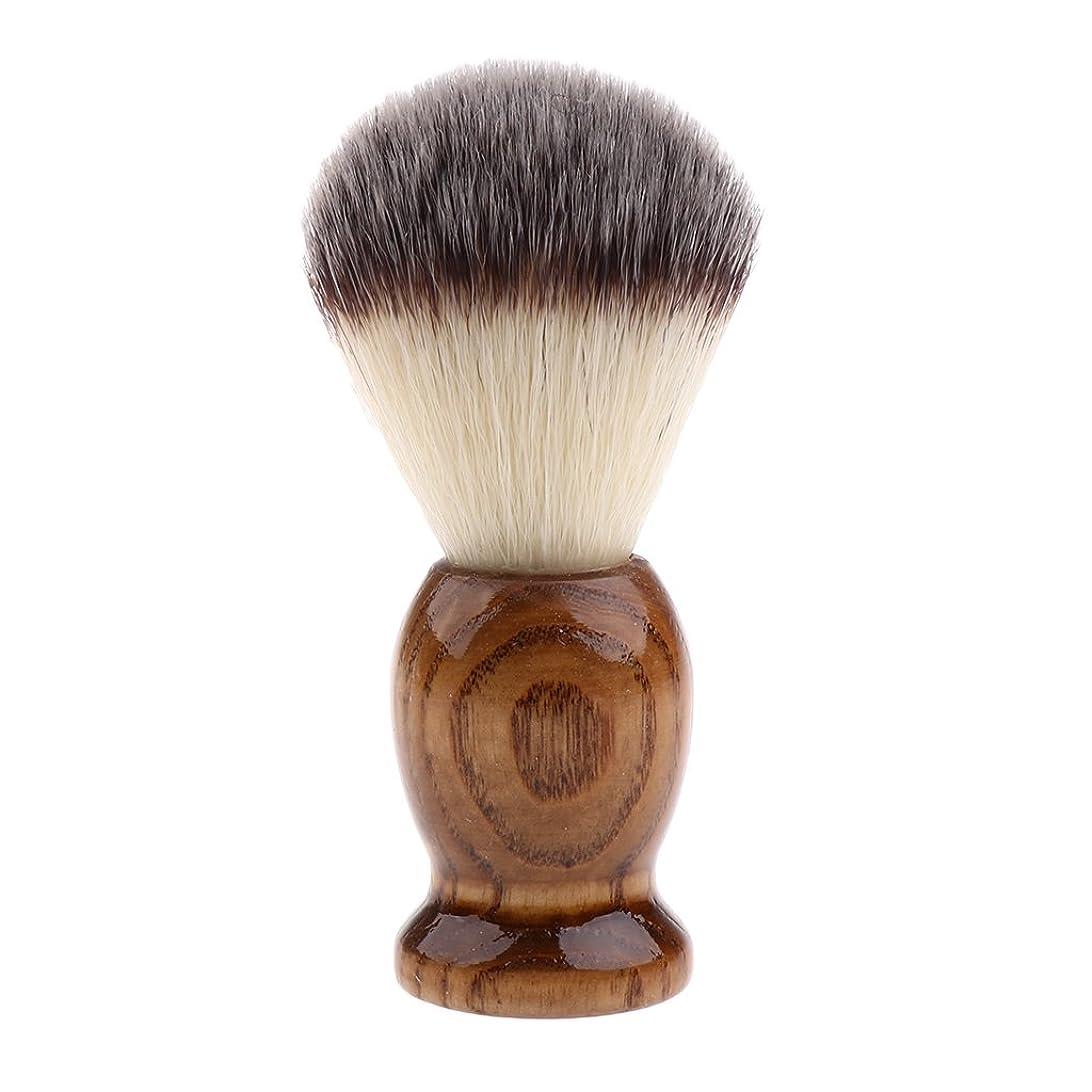 圧縮これら真鍮SONONIA 男性 シェービングブラシ レトロ 木製ハンドル サロン 理髪 髭剃り 泡立ち 洗顔ブラシ