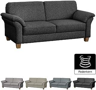 CAVADORE 3 Sitzer Byrum Im Landhausstil / Großes Sofa Mit Federkern /  Landhaus Garnitur /