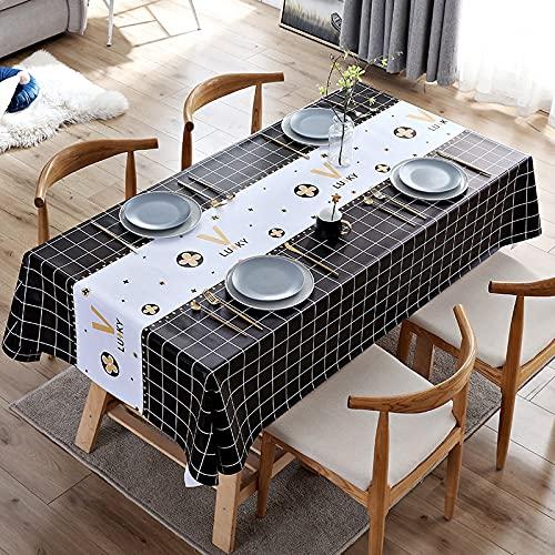 Paño de mesa, limpie y limpie el aceite del hogar impermeable y mantel a prueba de salpicaduras, paño de mesa duradero para el hogar hotel fiesta cafe120* 170cm