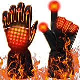 YonHeart Heated Gloves for Women and Men, Electric Battery Powered Waterproof Winter Thermal Warm Touchscreen Gloves for Sports, Outdoor Skiing Cycling Riding Skating Hiking Hunting (Medium)