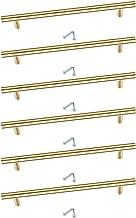 Puxadores de gaveta de armário Homyl 6 peças de aço inoxidável escovado utensílios de cozinha Puxador de porta T com paraf...