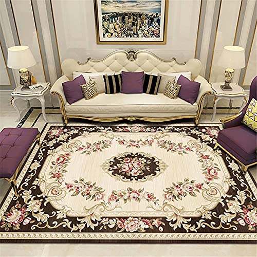 Kunsen alfombras habitacion habitacion Infantil Dormitorio Hotel Alfombra Color de arroz Rectangular Retro Máquina de no pulgas Lavable Alfombra Infantiles 50X80CM 1ft 7.7' X2ft 7.5'