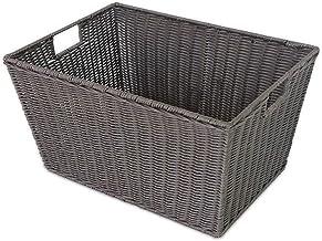 JUAN Laundry Basket Baby Storage Laundry Bucket Plastic Rattan Rectangular Debris Storage Basket Dirty Clothes Storage Bas...