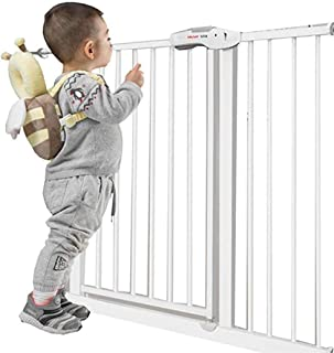 Baby Gates for Stairs Fence Pet Fence Isolation Door Indoor Home Dual Lock Self Closing