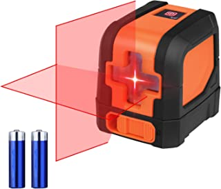 SUAOKI L12R Cross Line Laser Self-Leveling Horizontal and Vertical Line Laser Level (Battery Included)