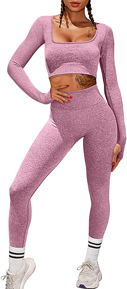 Al sold out. HYZ Women Workout 2 Piece Outfits High Yoga Gym Waist Cash special price Bo Legging