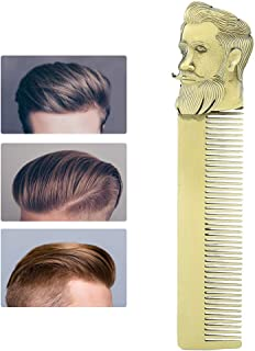 Portable Zinc Alloy Oil Head Styling Comb Multi-Functional Hair Beard Comb Beard Comb 1.6cm Hairdressing Tool 0.6in Brush ...
