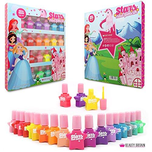 Princesse Set de vernis à ongles À base d'eau Pelable 18 bouteilles 18 couleurs