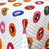 Hule Mantel Por Metros búho búhos de colores puntos 06103-00 Grande SELECCIONABLE en anguloso...
