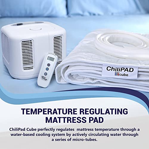 Split Cal King ChiliPad Cube - Single Zone - Heating and Cooling Pad - Fits Your Existing Mattress, Delivers Precise Temperature Control, and Creates the Perfect Sleep Environment