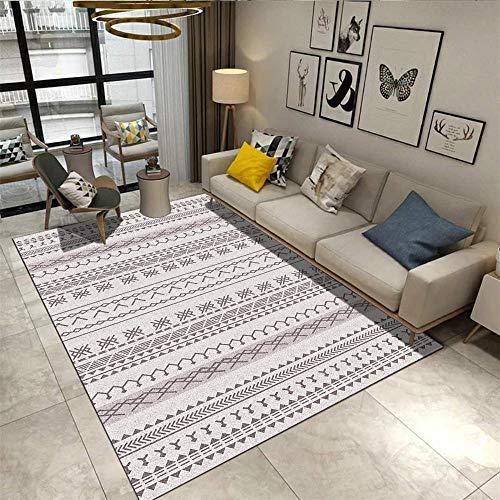 RUGMYW Antideslizantes alfombras Salon Grandes Patrón de Estampado clásico Gris marrón Alfombra Dormitorio Infantil 40X60cm