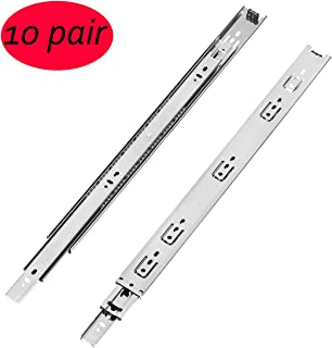 10 Pair of 22 Inch Full Extension Heavy Duty Drawer Slides,Lubrication Steel Ball Bearing