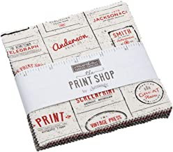 The Print Shop Charm Pack by Sweetwater; 42-5 Inch Precut Fabric Quilt Squares