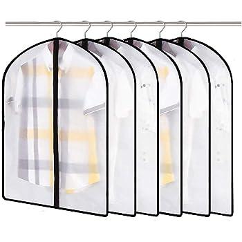Linseray 6 Pack Hanging Garment Bag Suit Bags Breathable Moth Proof Garment Cover with Full Zipper for Long Dress Dance Costumes Suits Gowns Coats 2Pcs 24 x 48+2Pcs 24 x 40+2Pcs 24 x 32
