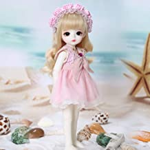 BJD Doll Ball Mechanical Jointed SD Doll DIY Toys with Full Set of Clothes Wig Shoes Accessories 26Cm/10Inch,Browneyeball