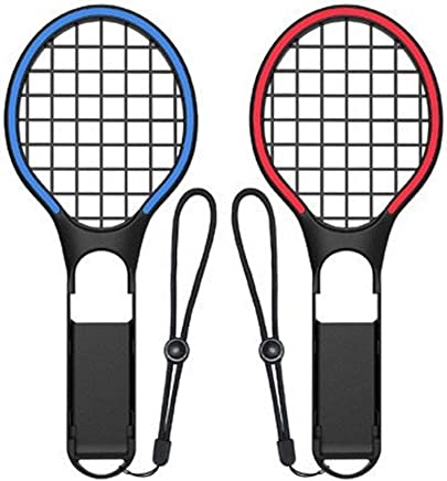 Womdee Tennis Racket for Nintendo Switch, 2 Pack Mario Tennis Aces Game Accessories, Compatible with Nintendo Switch Joy-Con Controller
