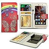 N4U ONLINE® Verschiedene Muster Clip Serie Kunstleder Brieftasche Hülle für Gionee Elife E7 Mini - Regenbogenforelle