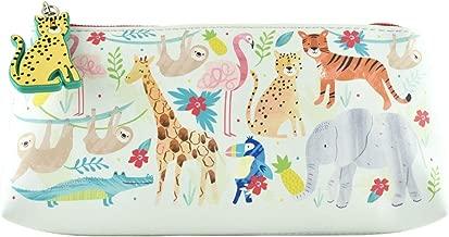 Floss & Rock Pencil Case, Jungle, 9x4x1.5 inches (38P3405)