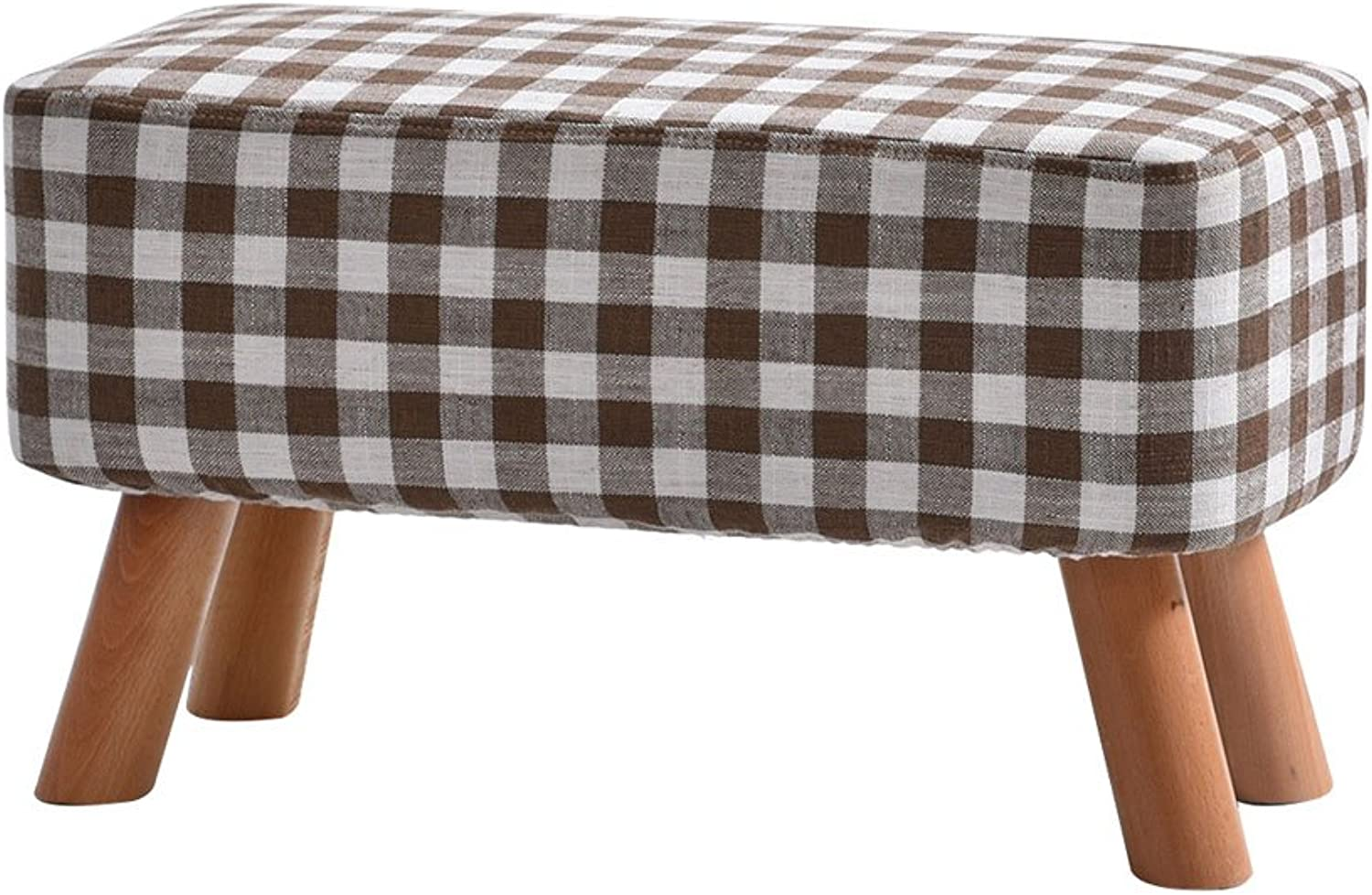 European Chair Solid Wood Bench, Fashion Fabric, shoes Bench, Stool, Stool, Sofa Bench (color   B)