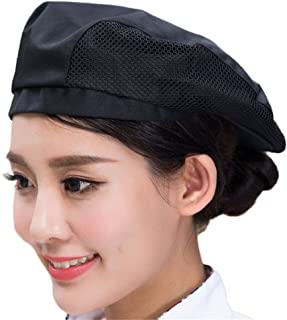Chef Hat Baker Kitchen Cooking Mesh Chef Cap for Adults CF9021