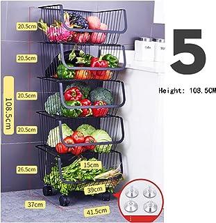 Étagères plancher de cuisine multi-niveaux de rangement et d'organisation de légumes de cuisine, étagères de légumes, pani...