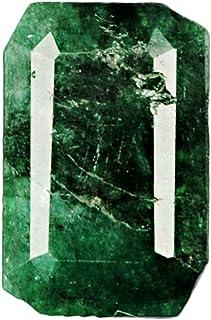 GEMHUB Piedra preciosa facetada con forma de esmeralda verde natural de 7 quilates, certificado B-7499