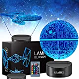 3D Star Wars Lamp - Star Wars Gifts - Star Wars Light - Star Wars Lamp& Perfect Gifts for Kids and Star Wars Fans