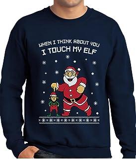 Tstars - I Touch My Elf Ugly Christmas Sweater Sweatshirt