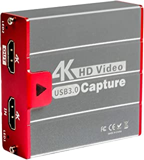 TreasLin キャプチャーボード 4K HDMI USB3.0 ビデオキャプチャカード ゲーム 1080P 60FPS HD 画質 Windows/Linux/Mac OSX 対応 PC / PS3 /PS4 / Xbox/Switch/W...