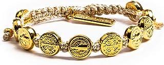 My Saint My Hero Benedictine Blessing Bracelet - Gold Medals