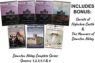 Downton Abbey Complete Series 1,2,3,4,5 & 6 + Secrets of Highclere Castle & The Manners of Downton Abbey (Limited Edition DVD)]