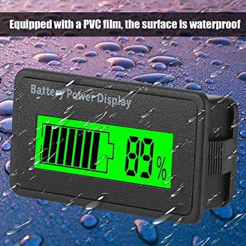 LCD Batterie Kapazitäts Monitor, 12-48 V Universal LCD Digital Battery Capacity Anzeige, LCD Akku Kapazität Voltmeter Meter(grün)