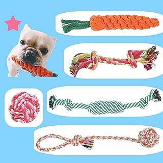 BUYGOO 5 Piezas Juguete de Cuerda para Perro no Tóxico e