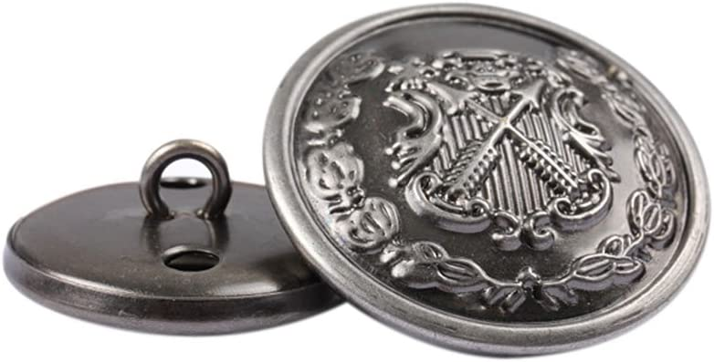 15 mm 12/piezas botones de Metal para Hombres Mujeres Traje Prenda v/ástago botones sujetadores De Jeans con caballero patr/ón DIY costura Accesorios Color Bronce marr/ón