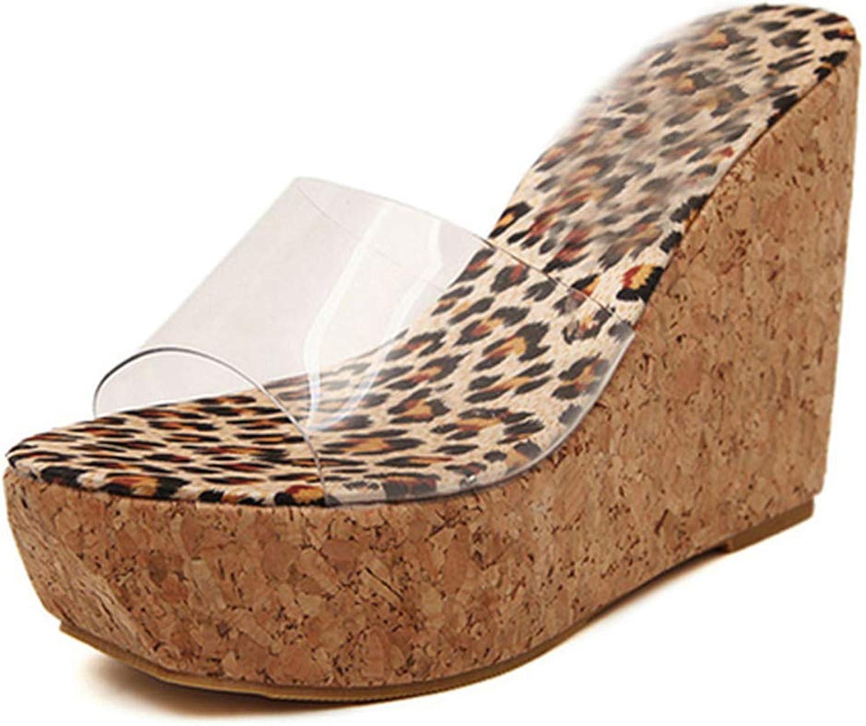 LAIGEDANZI Summer Transparent Platform Wedges Sandals Women Fashion High Heels Female Summer shoes