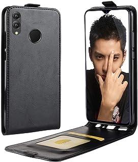 حقيبة جلدية متعددة الوظائف نمط الأعمال العمودي الوجه غطاء حماية خلفي جلد لهواوي هونر 8X، مع فتحة بطاقة (أسود) (اللون: أسود)