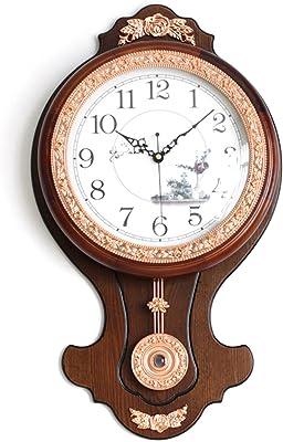 wall clock bracket clock System clock horologe horologium quartz clock crystalEuropean creative living room antique solid
