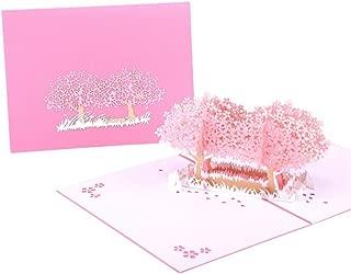 Ladaidra Cherry Blossom Greeting Card Handmade Birthday Wedding Invitation 3D Pop up Card