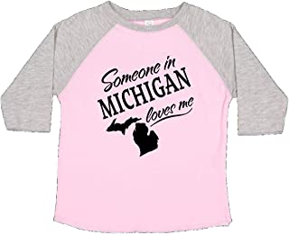 Someone in Michigan Loves Me Toddler T-Shirt