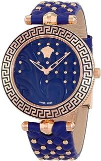 Vanitas Blue Dial Ladies Leather Watch VK7740017