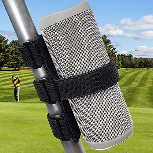 TOOVREN Portable Bluetooth Speaker Mount for Golf Cart Railing Bike,Wireless Speakers/Water Bottle Holder Adjustable Strap fits most Speaker,Golf Cart Accessories Applicable to Railing/Cross bar/Frame