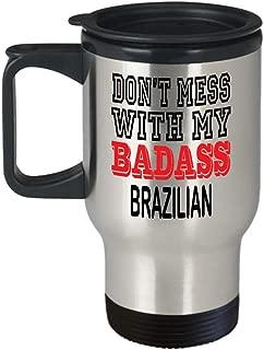 Insulated Travel Mug Brazilian Mug - Gift Don't Mess With My Badass Rabbits Lover Funny Mug Gift Coffee Cup Idea,am3904