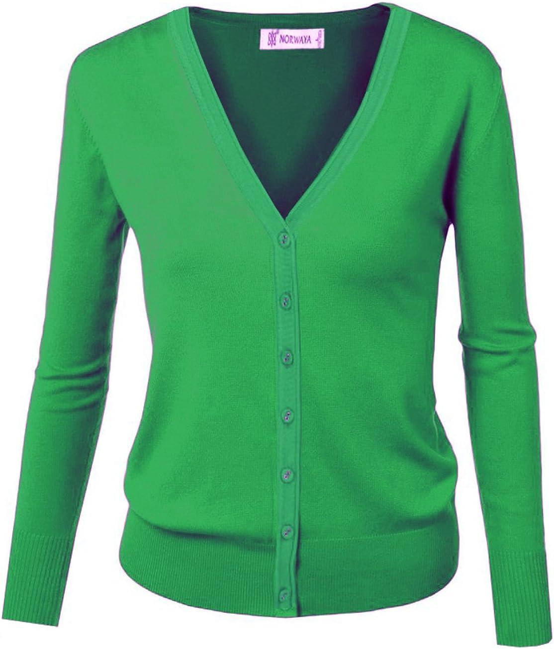 GOLDSTITCH Women Long Sleeve Button Down Soft Knit Cardigan Sweater