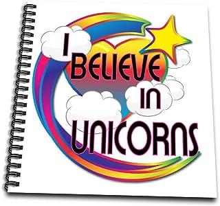3dRose db_166987_2 I Believe in Unicorns Cute Believer Design-Memory Book, 12 by 12-Inch
