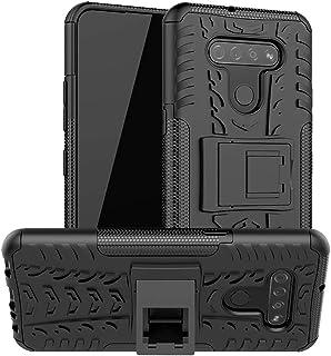SKTGSLAMY LG K51 Case, LG Reflect Case, [Shockproof] Tough Rugged Dual Layer Protective Case Hybrid Kickstand Cover for LG K51 (Black)