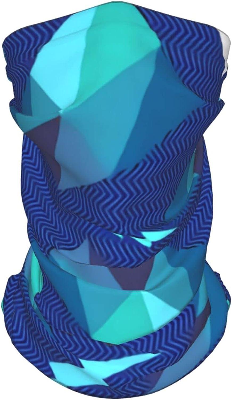 Retro Geometric Pattern Neck Gaiter Multipurpose Headwear Ice Silk Mask Scarf Summer Cool Breathable Outdoor Sport 2 Pcs