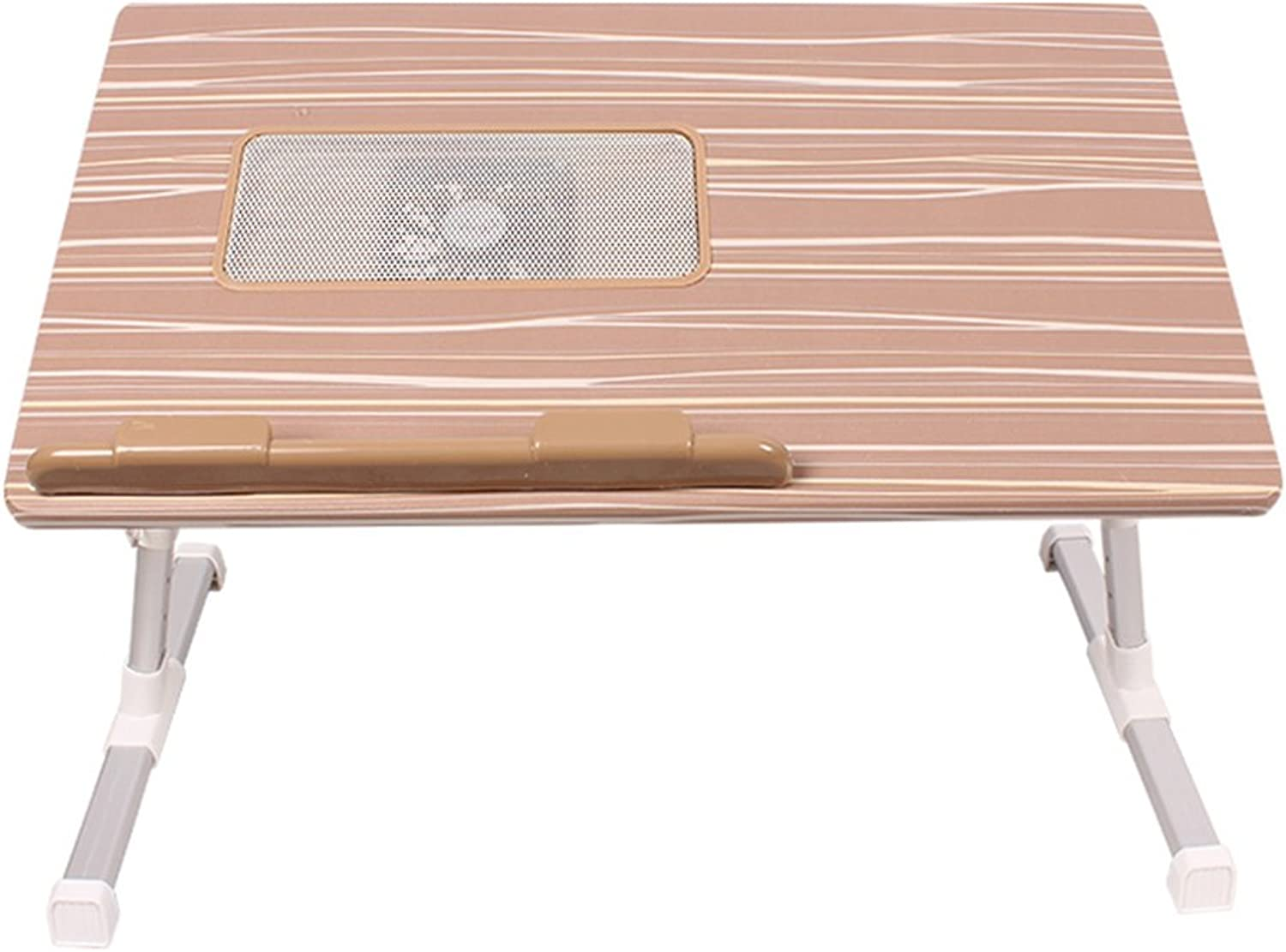 XUERUI Folding Tables Bed Use Folding Table Computer Desk Student Dormitory Use Writing Desk Brown White Desk 52cm30cm24-33cm (color   Brown)