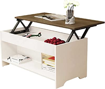 Modern Lift Top Coffee Table, Extendible Coffee Table with Lift Top Lifting Coffee Table Lifting End Table Perfect As Table Cabinet Desk
