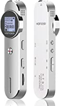 Digital Voice Recorder, Homder 1536kbps 8GB Voice Activated Recorder for Lectures/Meetings/Class, Stereo HD-Audio Recording Device with Dual Microphone, Supports 72GB TF Card Expansion - Silver