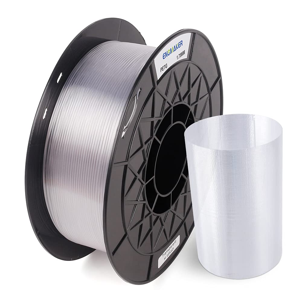 ENOMAKER Bombing new work Clear PETG Filament 1.75mm 2.2LBS Transparent with Super-cheap 1kg